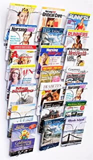 literature storage racks 21 pocket brochure holders for 85 x 11 magazines wall nice wall hanging office organizer 4