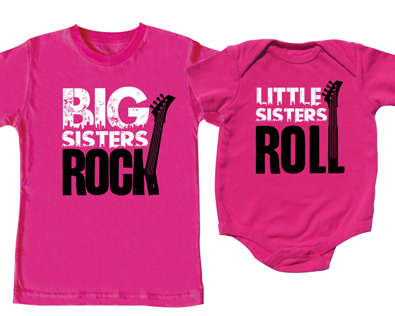 Nursery Decals and More Matching Shirts, Big Sisters & Little Sisters, Includes Small (6-8) & 0-3 mo by Nursery Decals and More