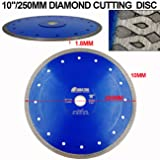 SHDIATOOL 10 Inch Diamond Saw Blade Cutting
