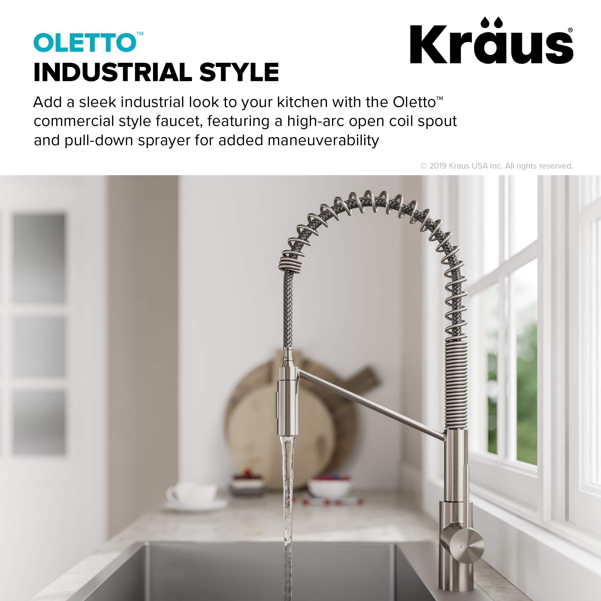 Kraus KPF-2631SFS Oletto Kitchen Faucet, 21.75 inch, Spot Free Stainless Steel by Kraus (Image #6)