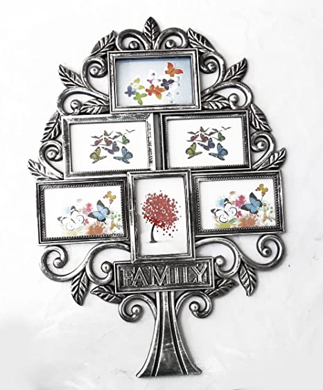 547ab27297f Buy Empreus Black 6 Family Tree Photo Collage Wall Frame Online at Low  Prices in India - Amazon.in