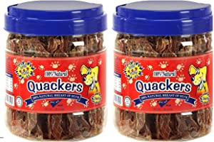 Duck Breast Fillets Dog Treats - 1 LB Jar (2 Pack) Raw Dehydrated Duck in Resealable Container - High Protein, Low Fat and No Additives - Gluten-Free Strong, Rich, Delicious Flavor for Any Pup!