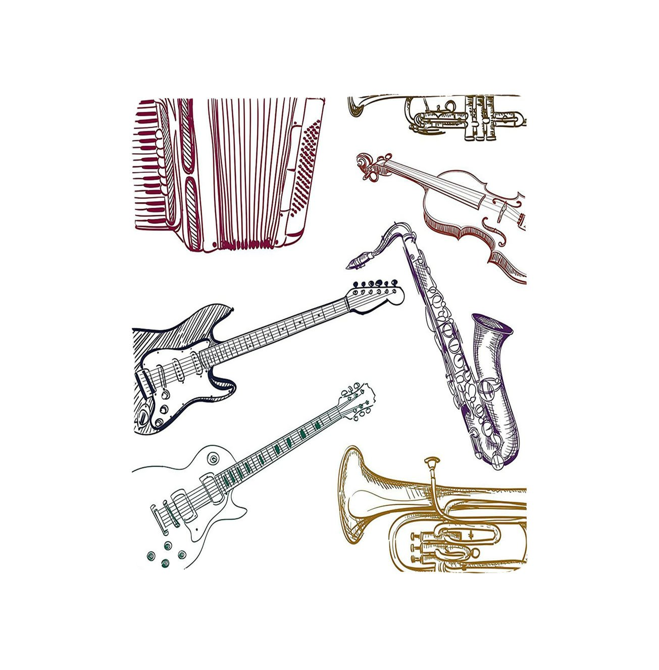 vroselvカスタムBlanket音楽楽器LikeチェロギターアコーディオントランペットバイオリンSaxophone印刷ソフトフリーススローブランケットマルチカラー 78.7 X 49.2 Inch mt-171215008367K200 X G125 B078B8WKTC 78.7 X 49.2 Inch78.7 X 49.2 Inch