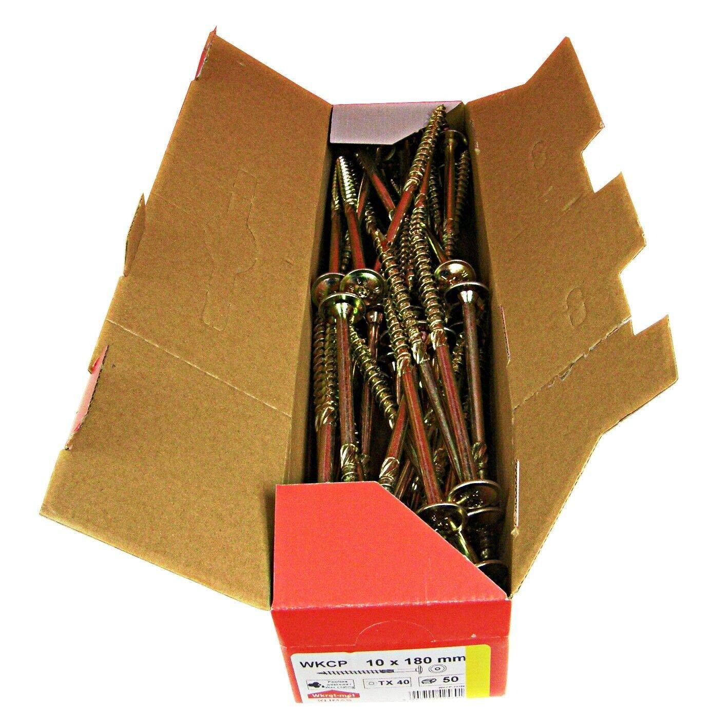 100St/ück 6x70mm TX30 Tellerkopfschrauben Holzbauschrauben alle Gr/ö/ßen Tellerkopf Torx Schrauben