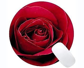 Yanteng Cojín de ratón Redondo del rectángulo, Flor Color de ...