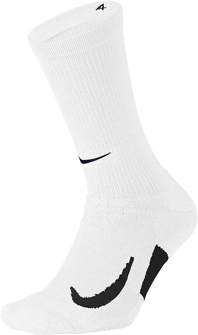 Nike Men/'s Running Elite Cushioned Crew Socks Color White//Grey Size 6-7.5 New