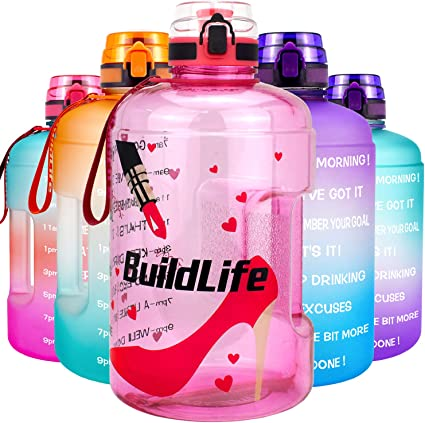 BuildLife Gallon//73OZ Water Bottle Sleeve with Time Marker for Measuring Your H2O Intake 1 Gallon, Love Tree Sleeve