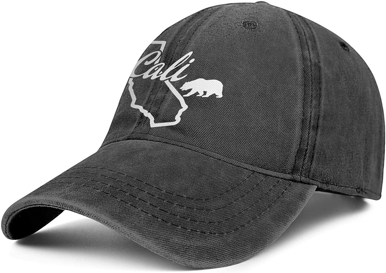 Men Woman Cali Life California Cap Stylish Denim Cowboy Hats Sports Caps