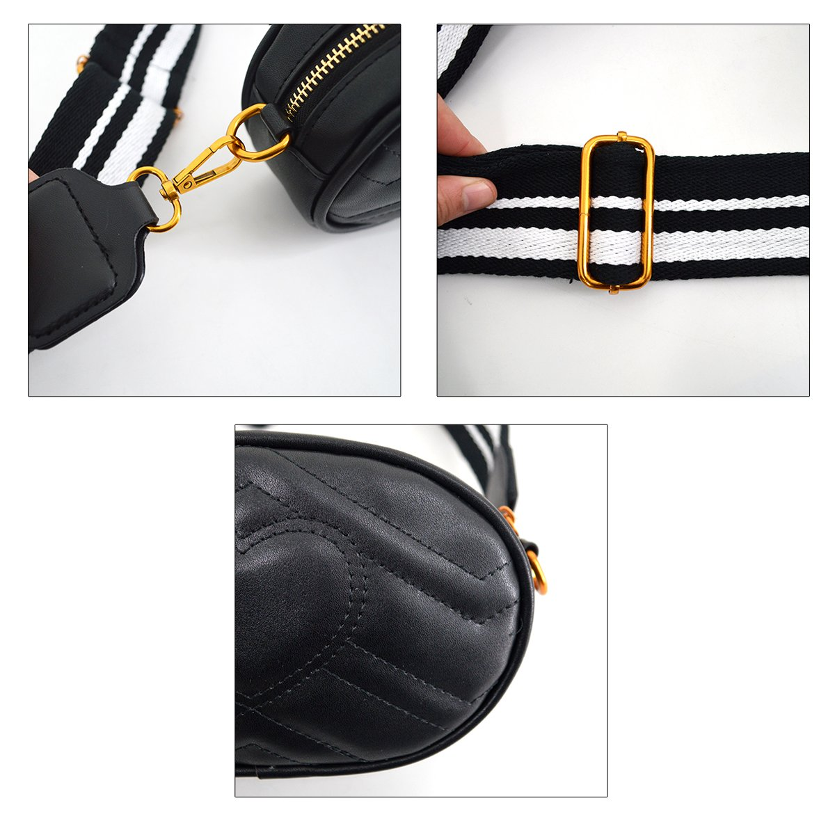 Mily Fashion Women Elegant PU Leather Waist Bag Love Shape Pattern Embroidery Cross Body Bag Fanny Packs by Mily (Image #9)
