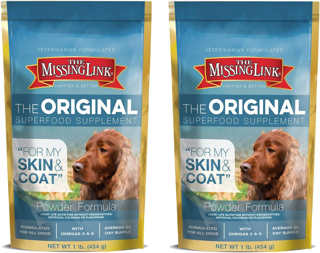 The Missing Link Ultimate Skin Coat Dog Supplement, 1-Pound, Pack of 2
