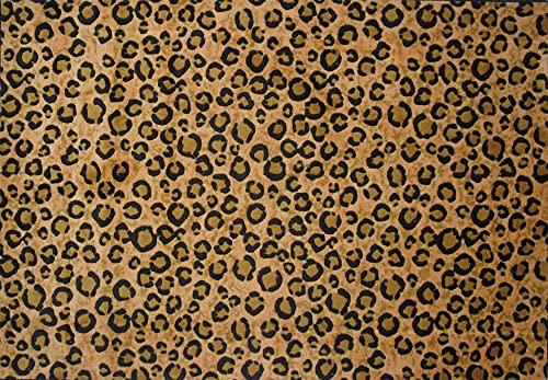 Fun Rugs Supreme Leopa Round Skin Home Decorative Accent Area Rug 5'X7'3″