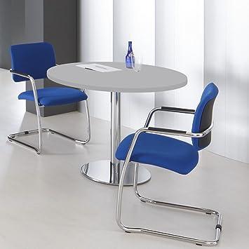 OPTIMA runder Besprechungstisch Esstisch Küchentisch Tisch Lichtgrau Rund Ø 100