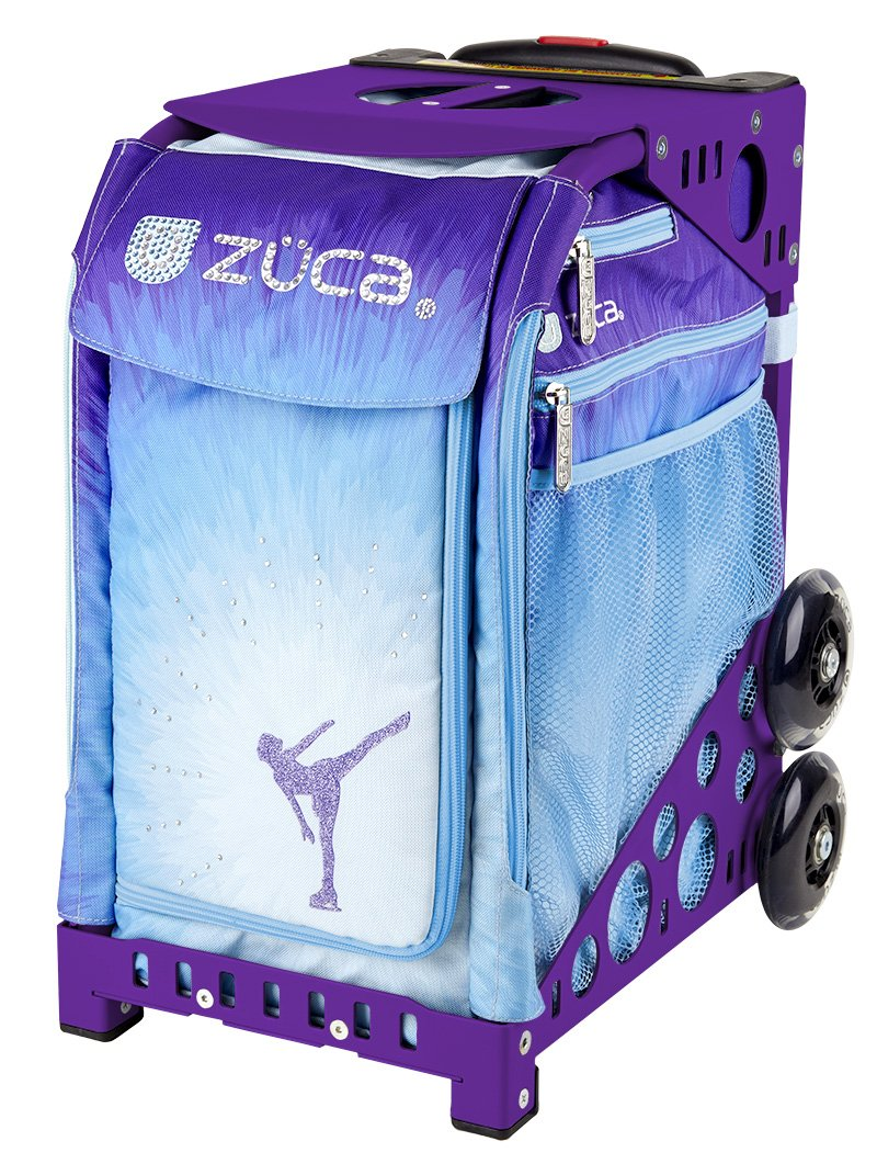 Zuca Ice Dreamz Sport Insert Bag & Purple Frame with Flashing Wheels by ZUCA