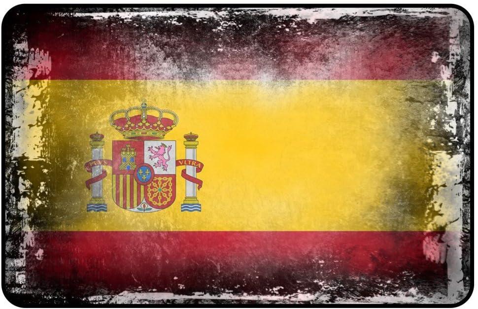 cadora rótulo magnético Frigorífico magnético Bandera España Shabby Chic Desgastado Alt usado: Amazon.es: Hogar