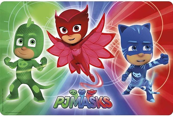 Amazon.com: Zak. Designs Placemat con Pj Máscaras gráficos ...