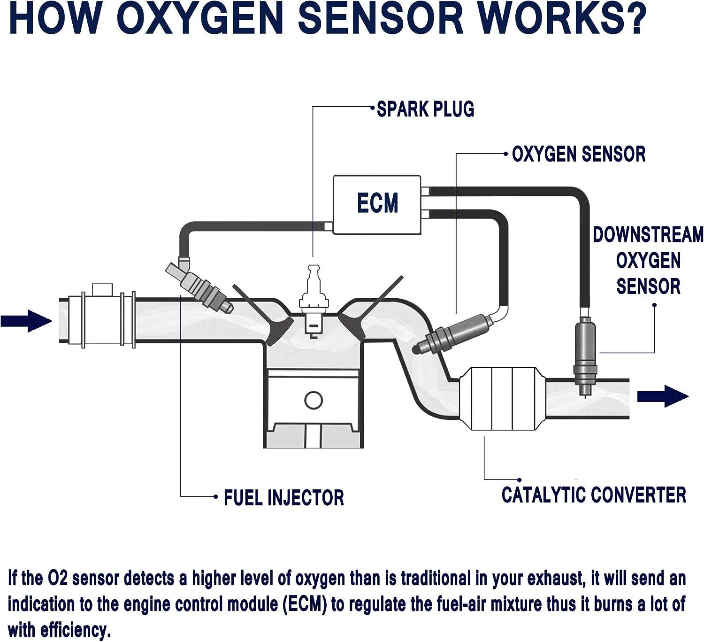 4-Wire Air Fuel Ratio Sensor,1 Rear Front Compatible for Titan ...