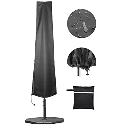 Umbrella Covers, Patio Waterproof Market Parasol Covers with Zipper for 7ft to 11ft Outdoor Umbrellas Large : Garden & Outdoor