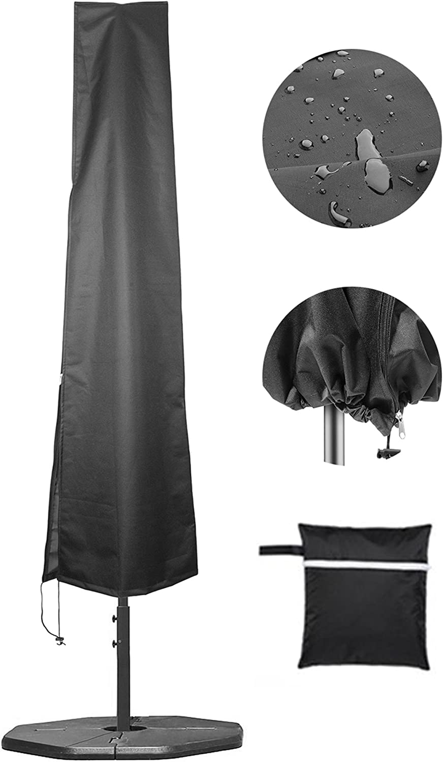 Umbrella Covers, Patio Waterproof Market Parasol Covers with Zipper for 7ft to 11ft Outdoor Umbrellas Large : Garden & Outdoor