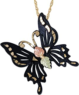 product image for Black Hills Butterfly Pendant with 12k Gold Leaf Accents