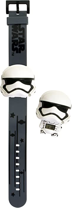 BulbBotz Star Wars 2021128 Stormtrooper Kids Light up Watch | White/Black | Plastic | Digital | LCD Display| boy Girl | Official