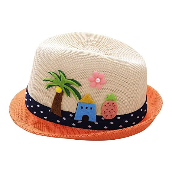 Chapeau de Soleil Panamas Chapeau, Covermason Fille Garçon été Chapeau de Soleil  Anti-soleil 8a7a08daa34