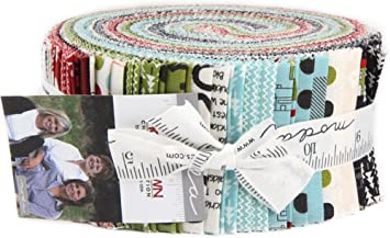 hometown christmas edition moda jelly roll 40 25 x 44 inch cotton fabric strips by