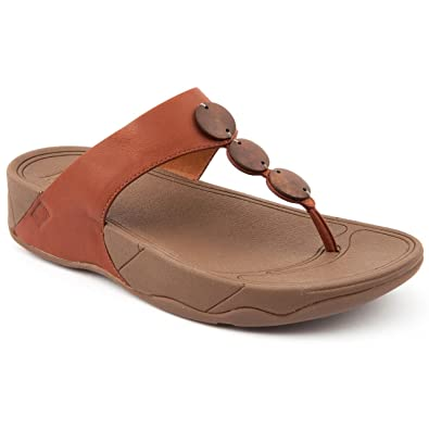 cda295687cd Fitflop Ladies Petra Ss16 Tan Flip Flops Size 8  Amazon.co.uk  Shoes ...