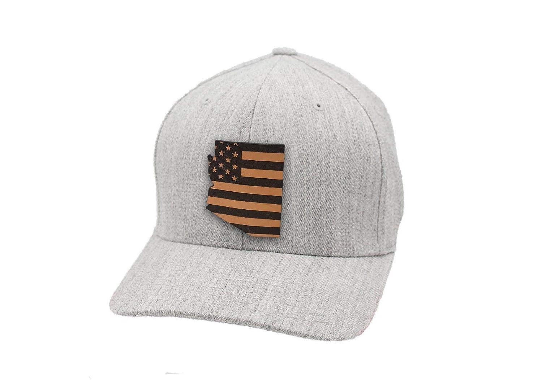Branded Bills Arizona Patriot Leather Patch Hat Flex Fit