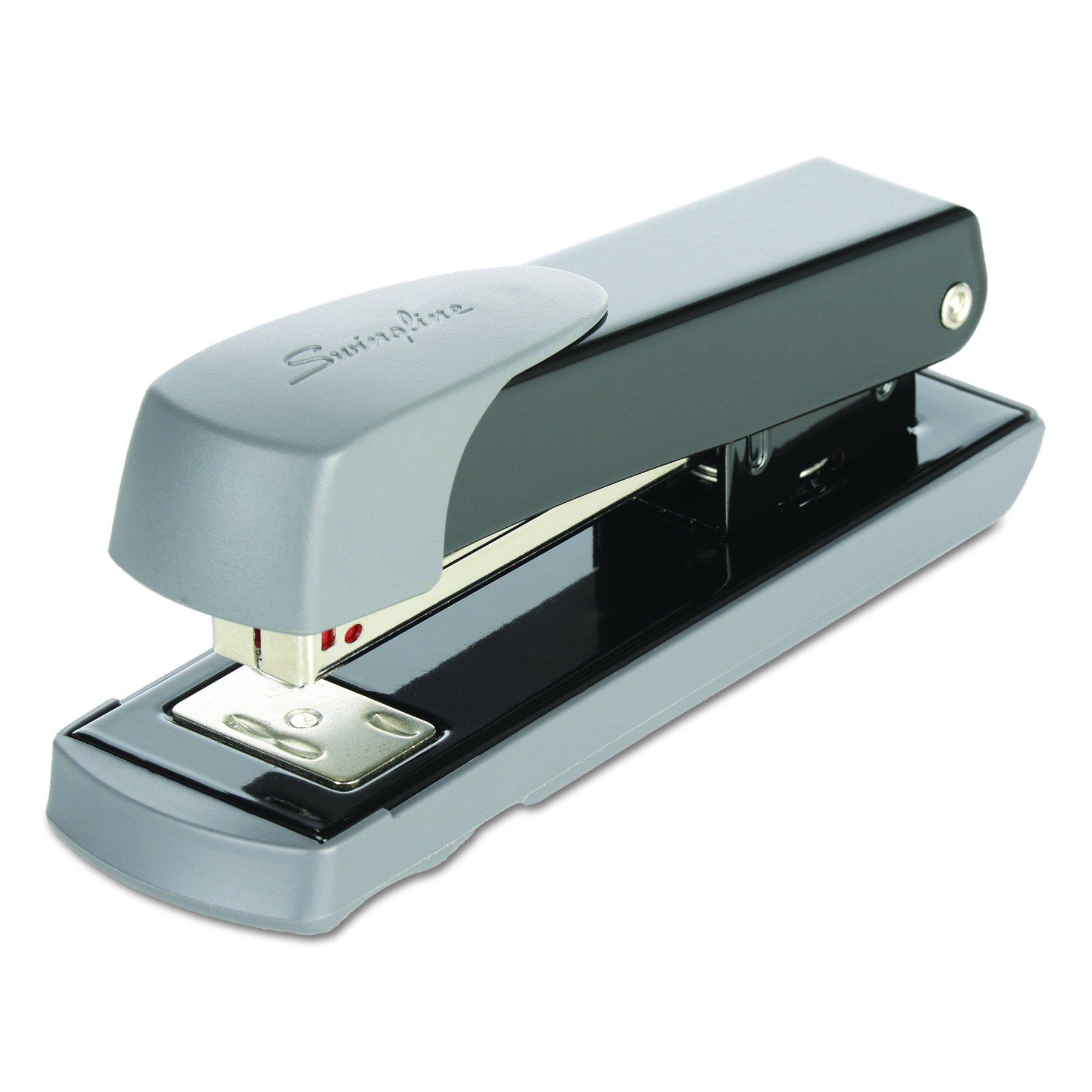 Swingline 71101 Compact Commercial Stapler, Half Strip, 20-Sheet Capacity, Black