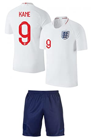 bf8487722 Harry Kane  9 England Soccer Jersey Youth World Cup Home Short Sleeve with  Shorts Kit Kids Soccer Set