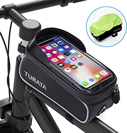 Bicycle Frame Front Tube Bag rainproof two side Pouch Cycling Phone new