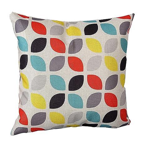zhouba moda patrón geométrico de lino de cojín manta funda de almohada sofá decoración para el hogar cubierta, Lino, #4, talla única