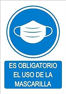 Cartel resistente PVC Se/ñaletica de aviso /ÙS OBLIGATORI DE MASCARETA ideal para colgar y advertir en catalan
