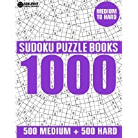1000 Sudoku Puzzles 500 Medium & 500 Hard: Medium to Hard Sudoku Puzzle Book for Adults with Answers