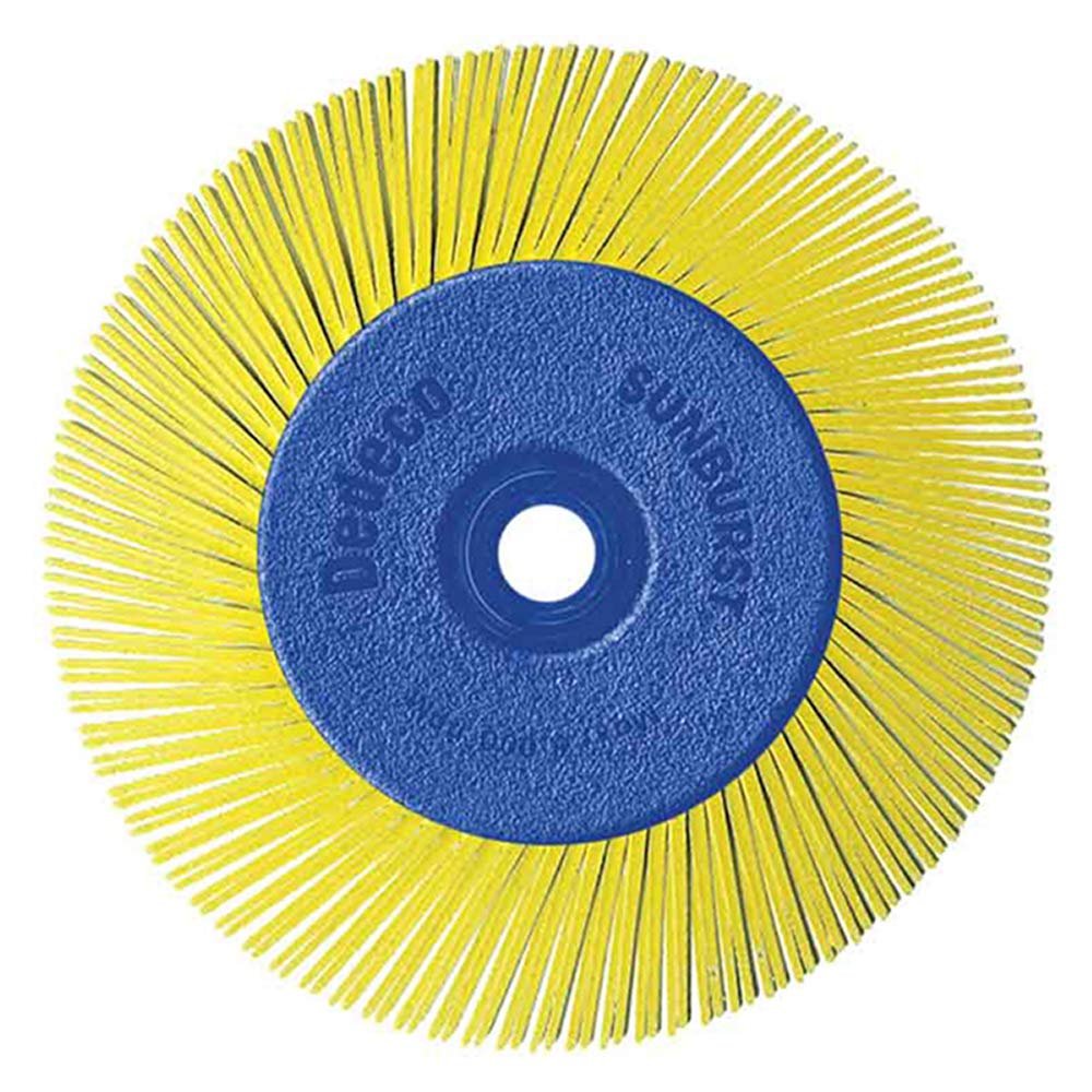 Dedeco Sunburst - 6 Inch TA Radial Bristle Discs - 1/2 Inch Arbor - Industrial Thermoplastic Rotary Cleaning and Polishing Tool, Coarse 80 Grit (1 Pack)