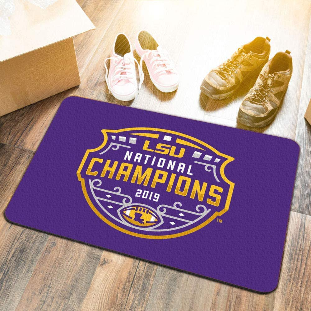 LSU Tigers 2019 Football National Champions Utility Door Mat College Flags /& Banners Co