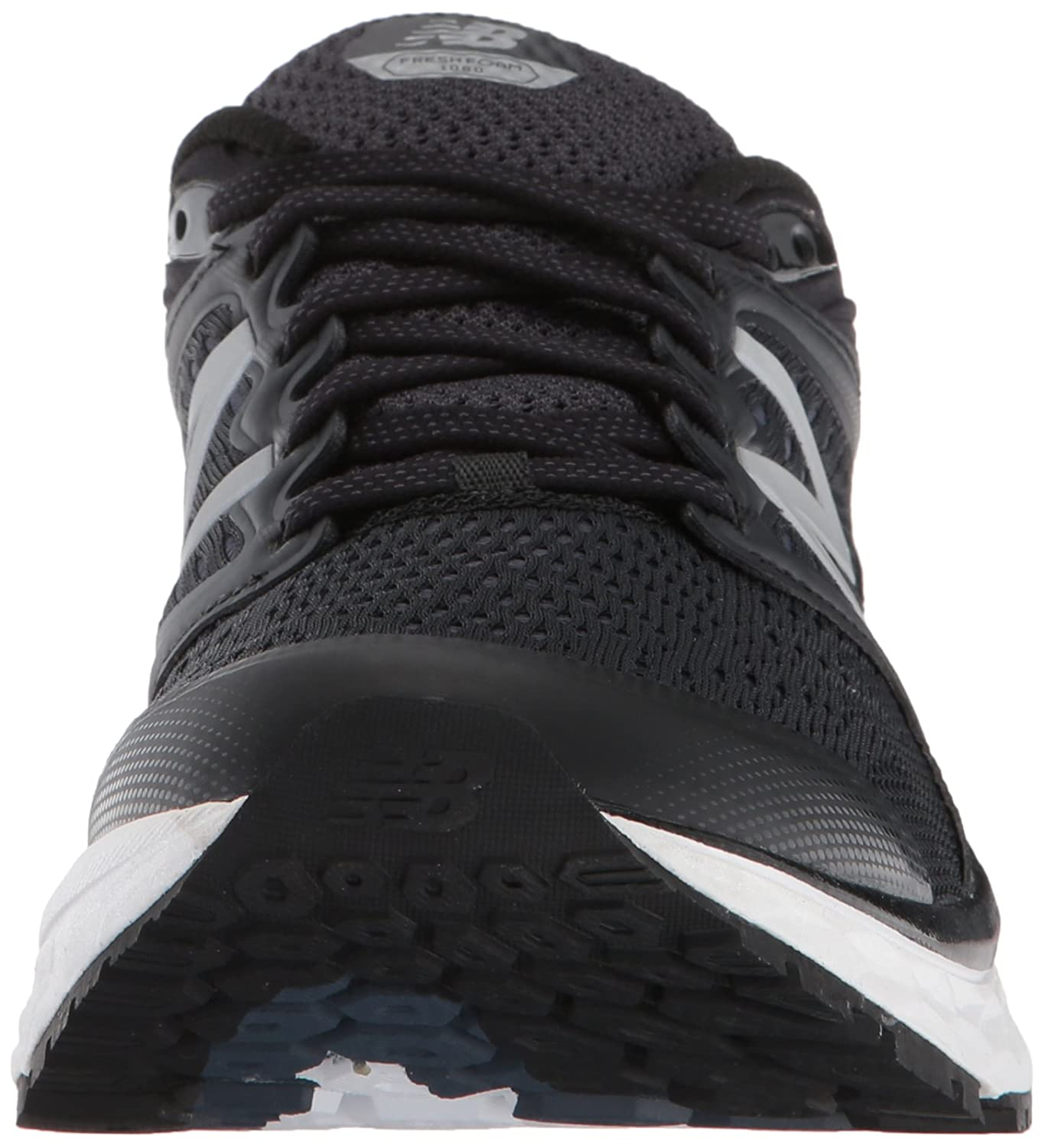 New Balance Women's 1080v8 Fresh Foam Running Shoe B01N5J5BEI 8.5 2E US|Black/White