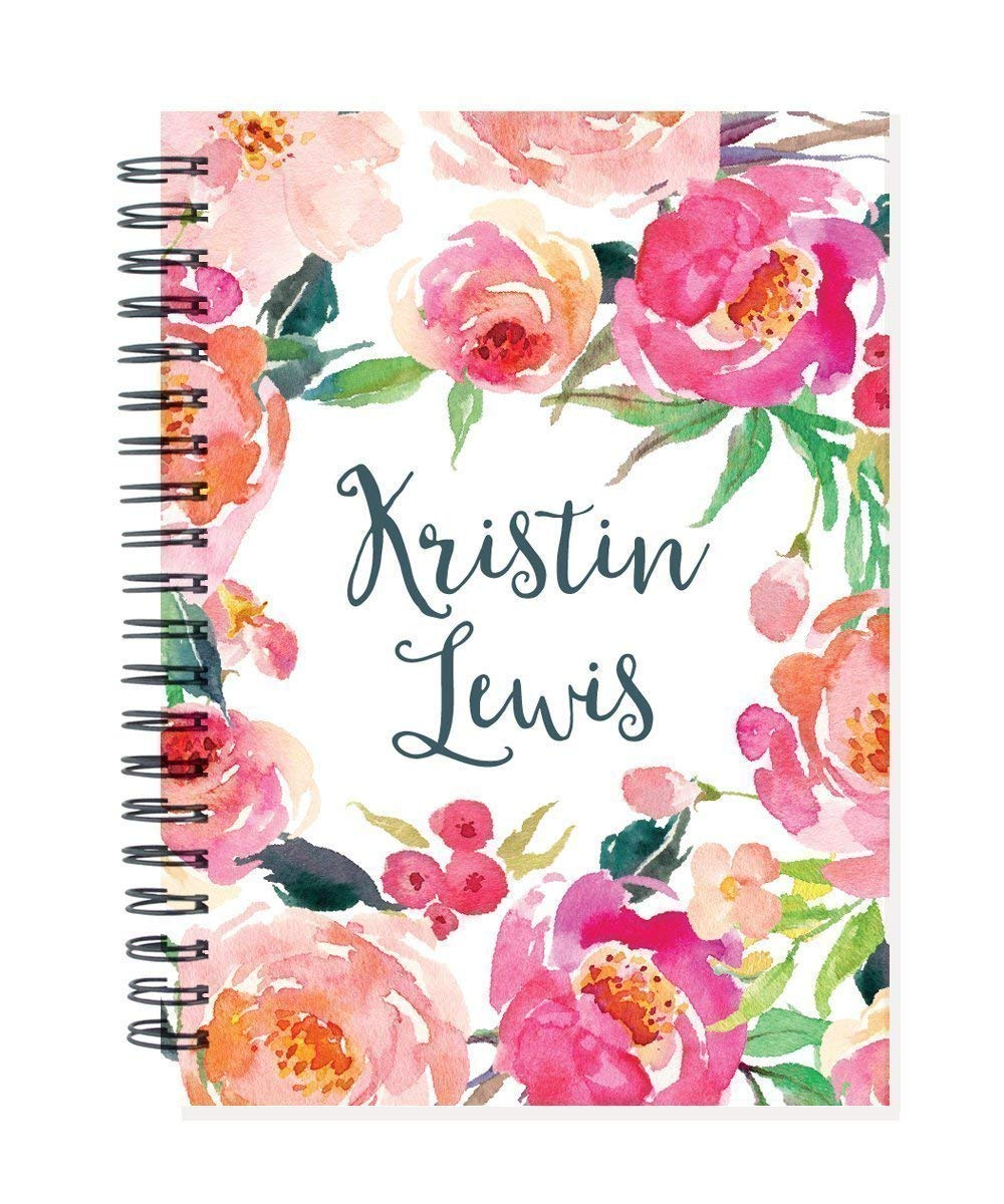 2018 2019 24 month personalized monthly planner notebook, 2 year calendar, start any month