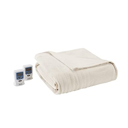913137381a Image Unavailable. Image not available for. Color  Ribbed Microfleece  Heated Blanket ...