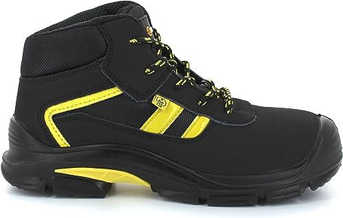 Foxter Chaussures de sécurité | Mixte : Hommes et Femmes | Montantes | Baskets de Travail | Légères et Respirantes | Imperméable | sans métal | Cuir