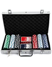 AllRight Poker Chips Set Game Poker Casino Poker Set 300 Pcs In Aluminium Case