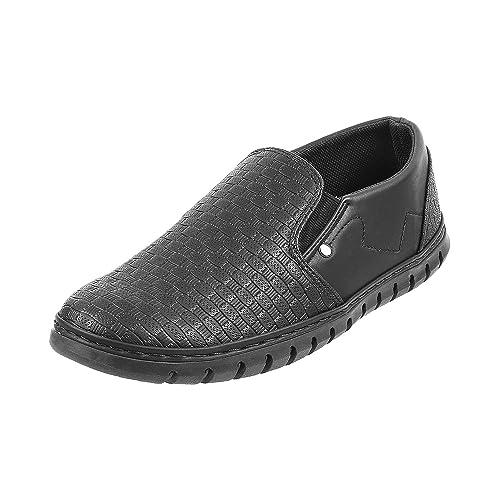 Buy Metro Boys Black Synthetic Loafers