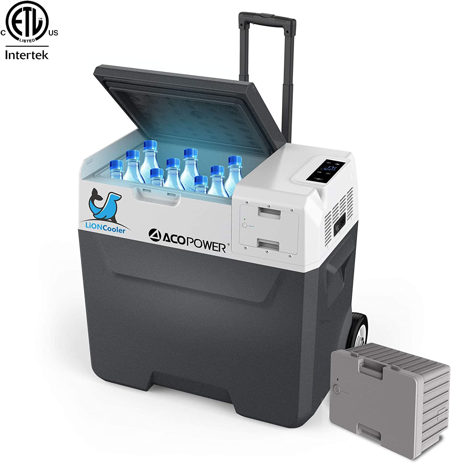 ACOPOWER LionCooler X50A Combo, 52 Quarts Solar Freezer & Extra173Wh Battery (2 Batteries Included)