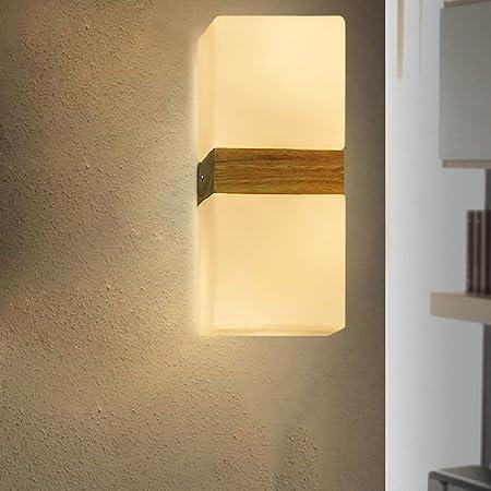 Amazon.com: Crayom Lámpara de pared de roble cuadrado de ...
