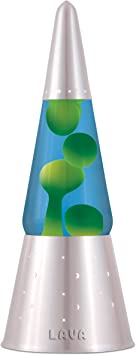 Lava Lite 6010 Heritage Collection 16 3 Inch Wizard Lava Lamp With Silver Base Yellow Wax Blue Liquid Lighting Ceiling Fans Amazon Canada