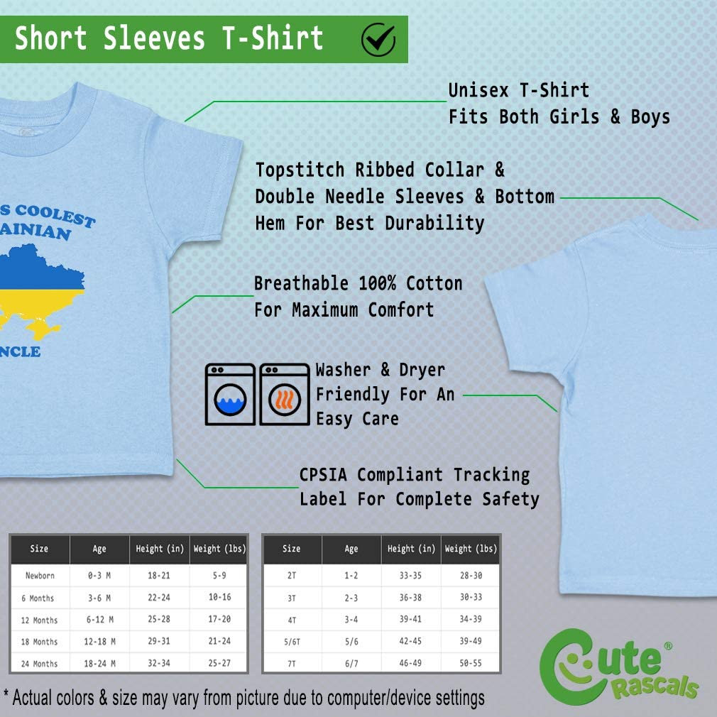 Custom Baby /& Toddler T-Shirt Worlds Coolest Ukrainian Uncle Boy Girl Clothes