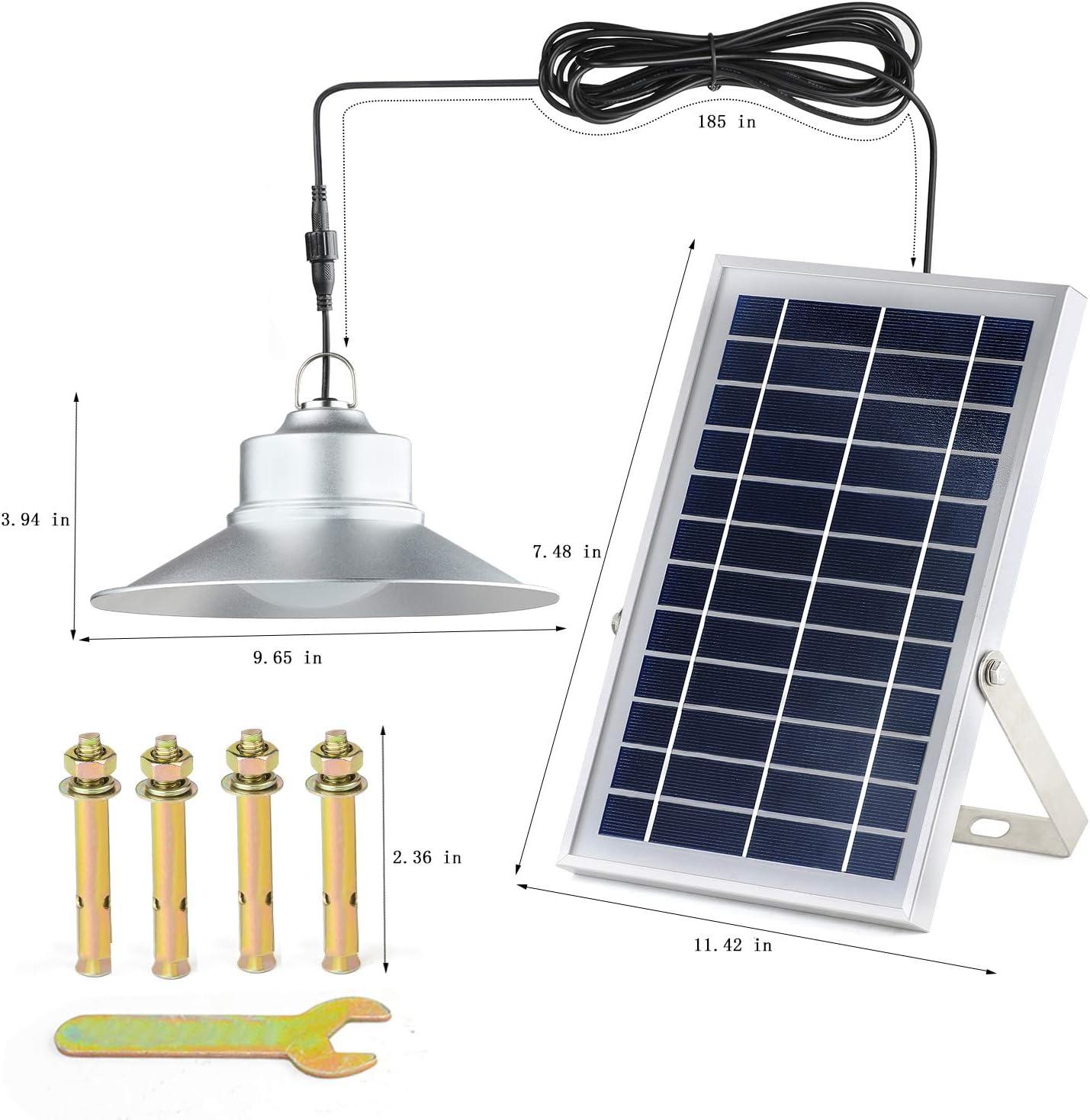 Kyson - Luces solares para interior y exterior (aleación de aluminio, 5200 mAh, mando a distancia, IP65): Amazon.es: Iluminación