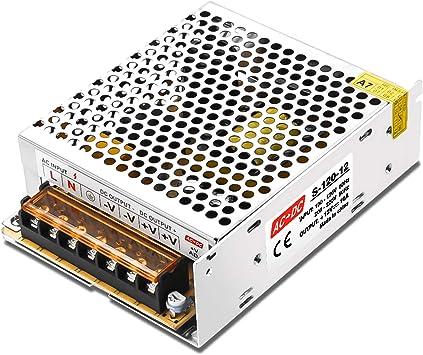 Fuente de alimentaci/ón LED 12V convertidor de voltaje LED Interruptor regulado Convertidor de voltaje CA//CC Controlador LED 5A Fuente de alimentaci/ón de interruptor regulado universal