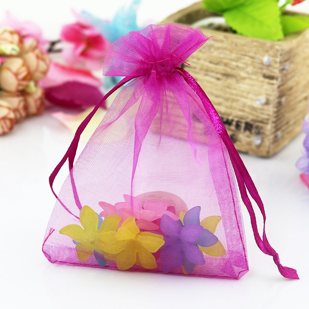 Amazon.com: Lalago 100 Pcs Organza Wedding Favour Bags Gift Mini ...
