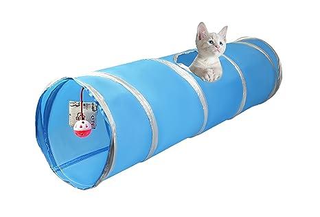 Cosy Life® Túnel para gatos con con juegos integrados 86 x 25 cm / Color